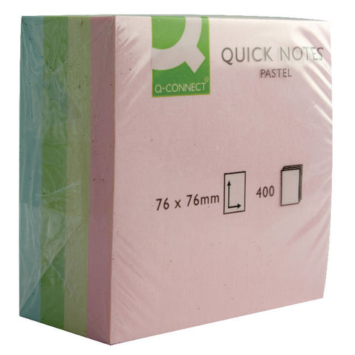 Value Stickn Sticky Notes Cube 76x76mm Pastel Assorted 21013