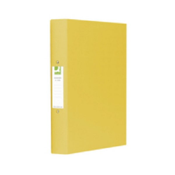 Q-Connect 25mm 2 Ring Binder Polypropylene A4 Yellow KF01472