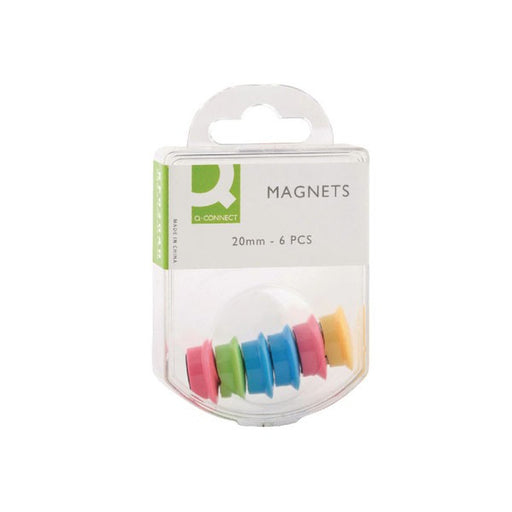 Q-Connect Round Magnet 24mm Assorted KF02040Q
