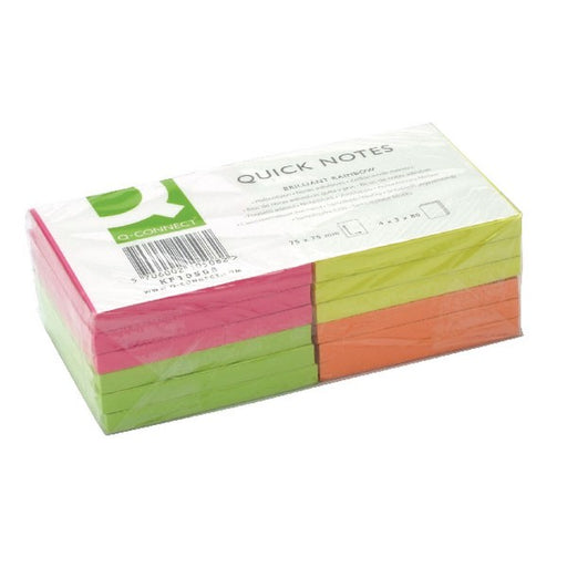 Q-Connect Quick Notes 76 x 76mm Neon KF10508