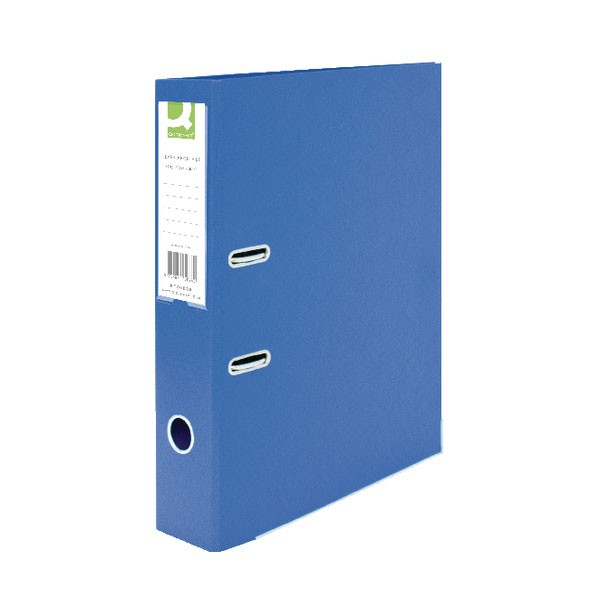 Q-Connect 70mm Lever Arch File Polypropylene Foolscap Blue KF20026