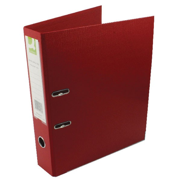 Q-Connect 70mm Lever Arch File Polypropylene Foolscap Red KF20027
