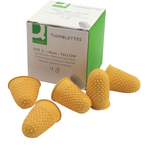 Q-Connect Thimblettes Size 2 Yellow KF21510