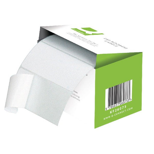 Q-Connect Address Label Roll Self Adhesive 89x36mm White KF26073