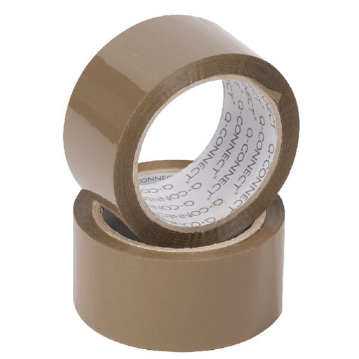 Value Buff Packaging Tape 48mmx66m Pack 6