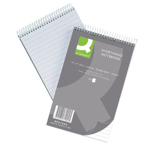 Q-Connect Feint Ruled Shorthand Notebook 300 Pages 203x127mm 31002