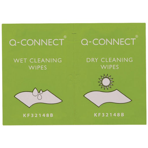 20 x Q-Connect Wet and Dry Wipes KF32148