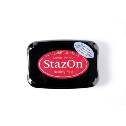 StazOn Ink Pads Blazing Red Staz On Pad