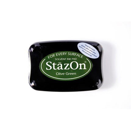 StazOn Ink Pads Olive Green Staz On Pad