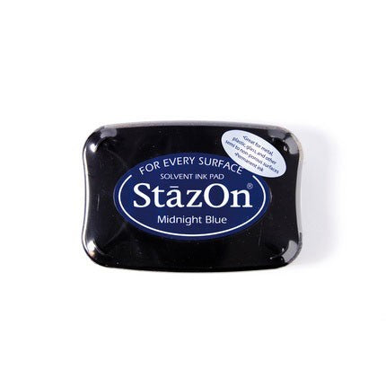 StazOn Ink Pads Midnight Blue Staz On Pad