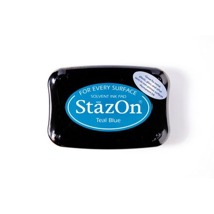 StazOn Ink Pads Teal Blue Staz On Pad