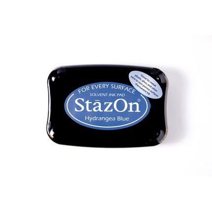 StazOn Ink Pads Hydrangea Blue Staz On Pad