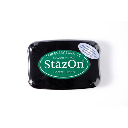 StazOn Ink Pads Forest Green Staz On Pad