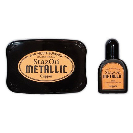 StazOn Ink Pads Copper - StazOn Metallic Ink Pad