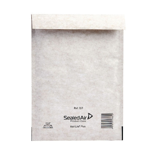 Mail Lite Plus Bubble Lined Postal Bag Size D/1 180x260mm Oyster White MLPD/1