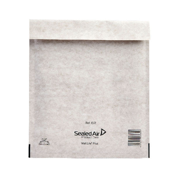 Mail Lite Plus Bubble Lined Postal Bag Size E/2 220x260mm Oyster White MLPE/2