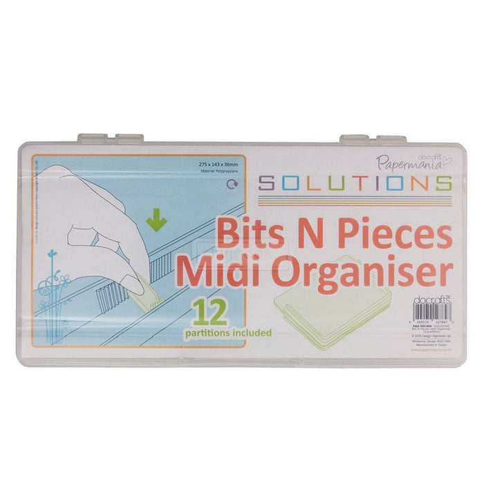Midi Organiser (12 Partitions) - Bits N Pieces - Clear