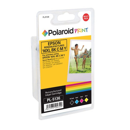 Polaroid Epson 16XL Remanufactured Inkjet Cartridge KCMY T163640-COMP PL