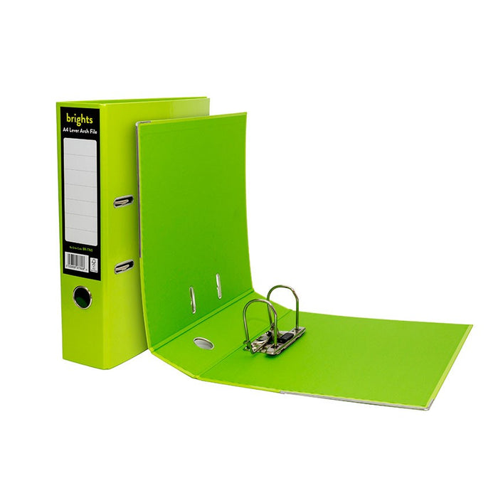 Pukka Brights Lever Arch A4 Green