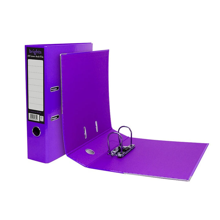 Pukka Brights Lever Arch A4 Purple