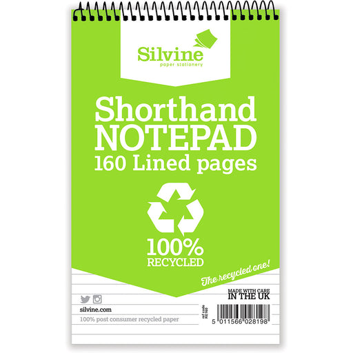 Recycled Shorthand Notebook