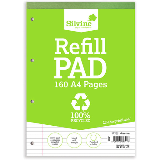A4 Recycled Refill Pad Feint & Margin