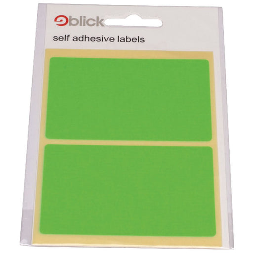 Blick Green Fluorescent Labels in Bags 50x80mm RS010654
