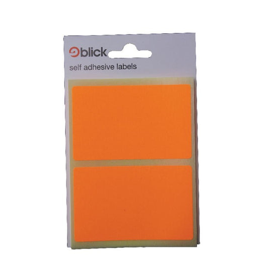 Blick Fluorescent Labels in Bags 50x80mm 8 Per Bag Orange RS010852