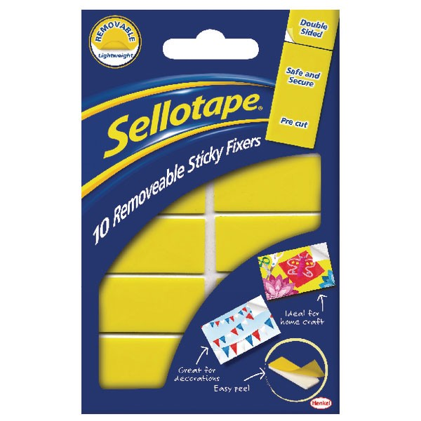 Sellotape Sticky Fixers Removable Pads 20x40mm 1445286
