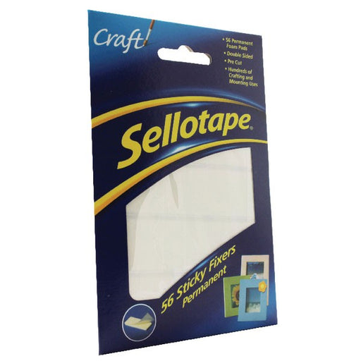 Sellotape Sticky Fixers Permanent 12x25mm 1445423