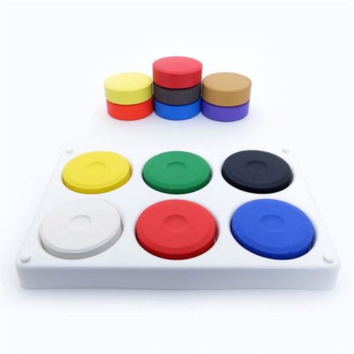 Paint Blocks & Tray, 6 Assorted Colours