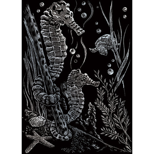 Silver Foil Mini Kit Sea Horses