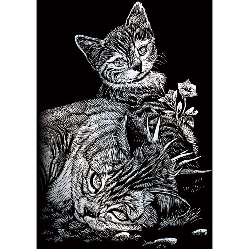 Silver Foil Mini Kit Tabby Cat & kitten