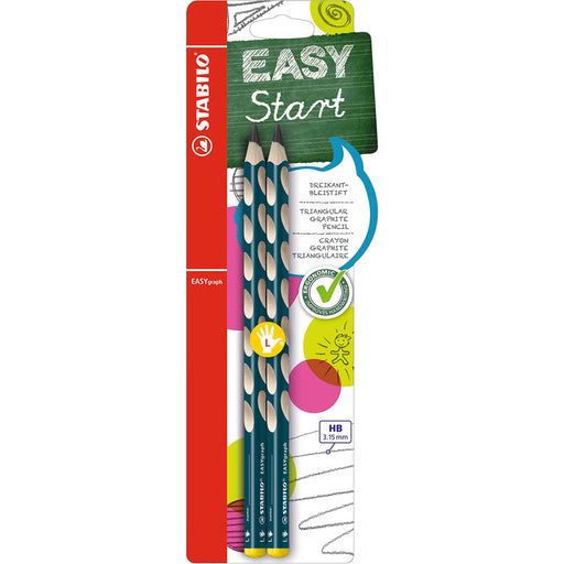 EASYgraph StartPencils Petrol HB Left Hand set of 2