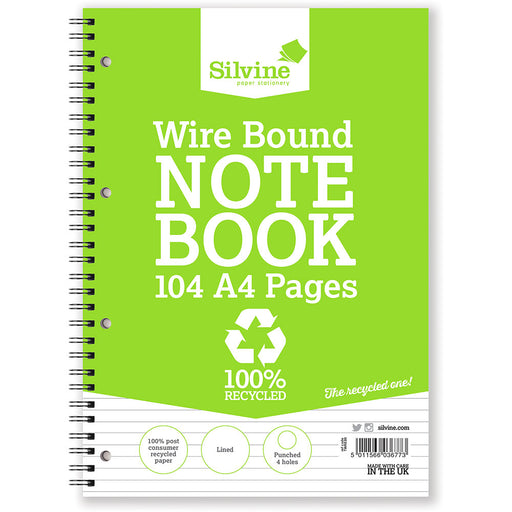 Recycled A4 Twinwire Notebook Feint