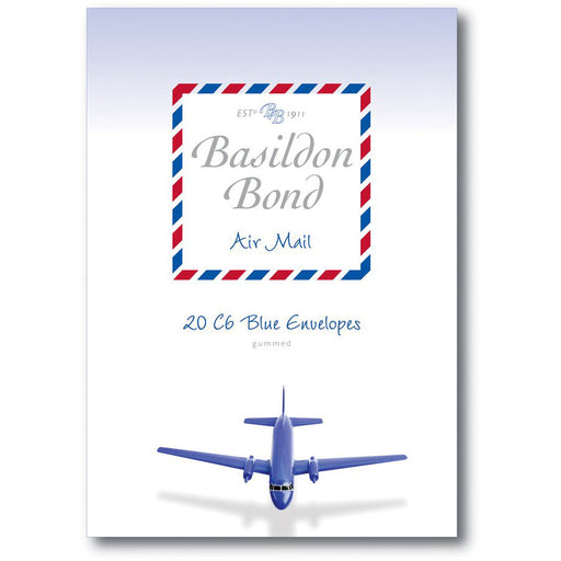 Basildon Bond Blue Airmail C6 Envelopes