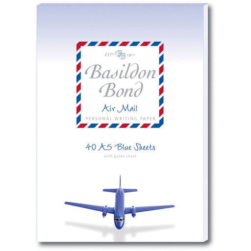 Basildon Bond Blue Airmail Writing Pad A5
