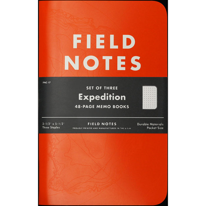 Field Notes Expedition Waterproof Books 3-pack