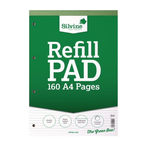 Silvine A4 Refill Pad Narrow Ruled