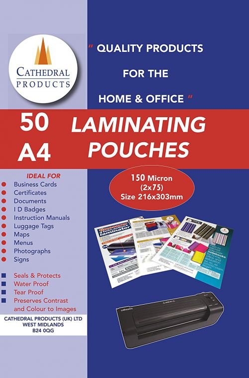 Laminating Pouch A4 150Micron Pack 50