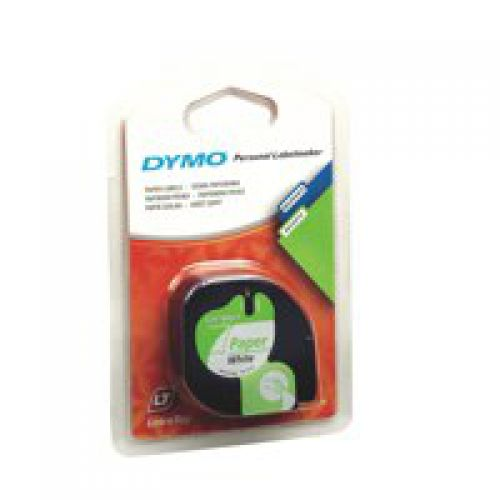 Dymo LetraTag Tape 12mm Paper White