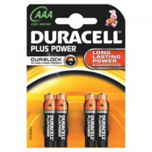 Duracell AAA Plus Batteries Pack 4