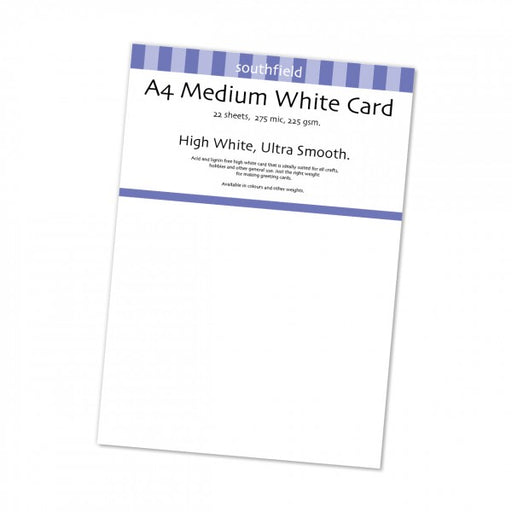A4 White Medium Card