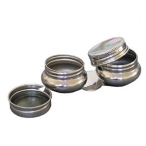 Stainless Steel Oil Palette Double Dipper With Lid