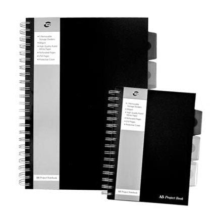 Pukka A5 Polypropylene Project Book Black