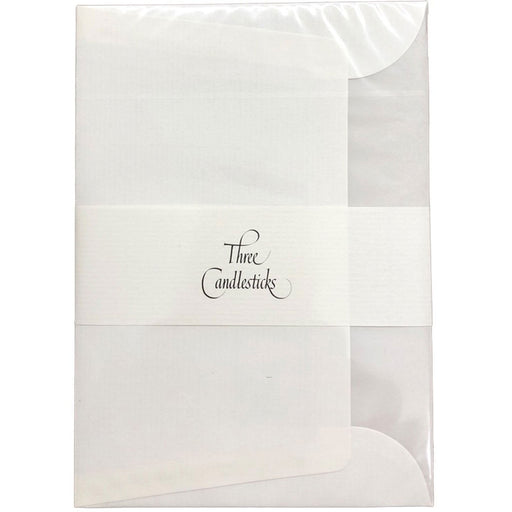 Three Candlesticks White Envelopes