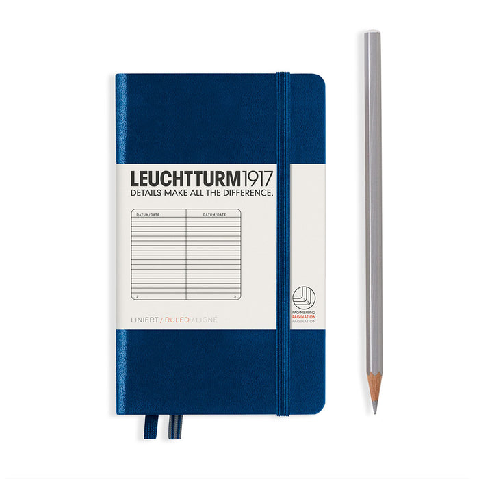 Hardcover Notebook Pocket A6 Ruled