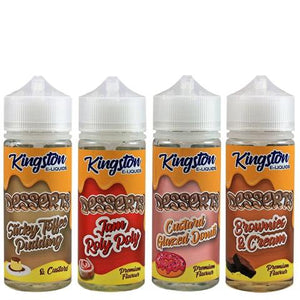 KINGSTON DESSERTS ELIQUID SHORTFILLS 120ML - VapeRoad1