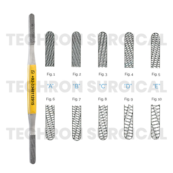 Fomon Nasal Rasps TC Double Ended