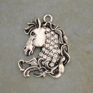 Crystal Horse Head Western Charm for Bracelets & Necklaces